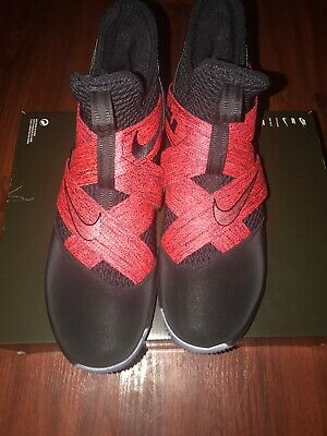 676042912b41 Nike Lebron Soldier XII 12 Bred Mens AO2609-003 Black Basketball Shoes Size  11.5
