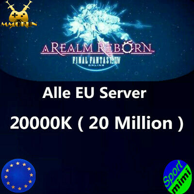 FINAL FANTASY XIV FFXIV FF14 GIL 20000K 20 MILLION 20M Alle EU Server GILS