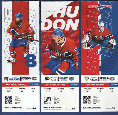 2018-19 MONTREAL CANADIENS NHL HOCKEY TICKET vs PENGUINS Antti Niemi March 2