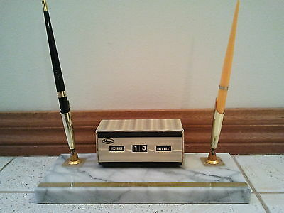 Vintage Lucky Marble Pen Stand
