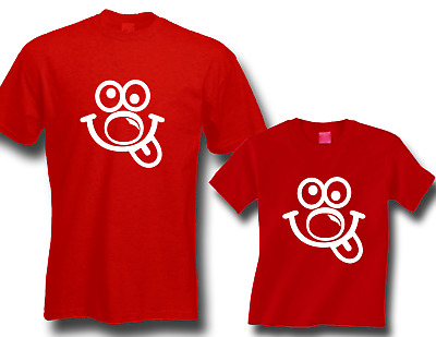 Red Nose Day, Comic Relief RED KIDS / ADULTS T-SHIRT, FUNNY FACE fundraising
