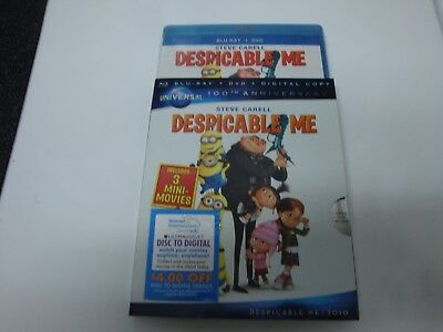 Despicable Me  *Brand New* w/Slip Cover  (Blu-ray/DVD, 2010, 3-Disc Set,)