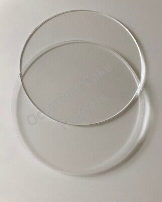 Acrylic Ganaching Plates - Round or Square pair of ganache discs various sizes