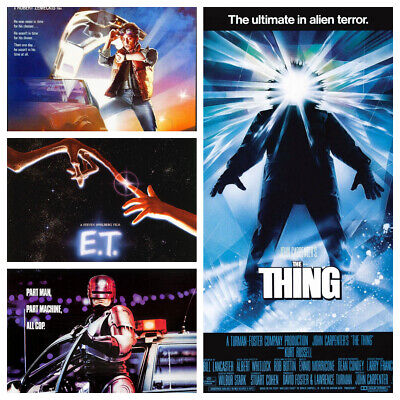 80s Movie Posters Glossy A3 Wall Decor Art Photo Poster Film Kids Bedroom Retro