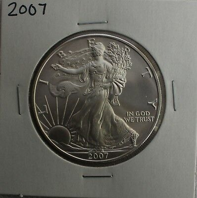 2007 BU American Silver Eagle Dollar Uncirculated ASE US Mint Bullion Coin