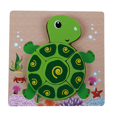 Kids Baby Early Learning Wooden Cute Cartoon Jigsaw Educational Puzzle Toys G