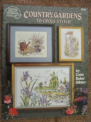 American School Of Needlework-Country Gardens To Cross Stitch-Book 3596