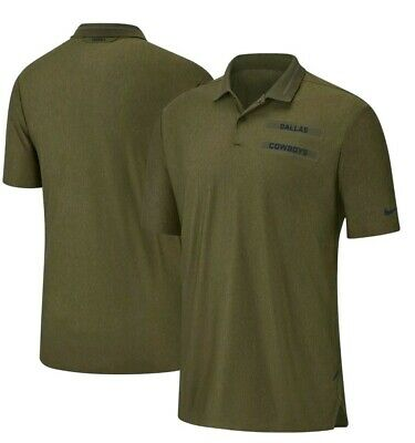 f637cc83d36f55 Dallas Cowboys Nike Salute to Service Sideline Dri-Fit Polo Olive men's  Medium