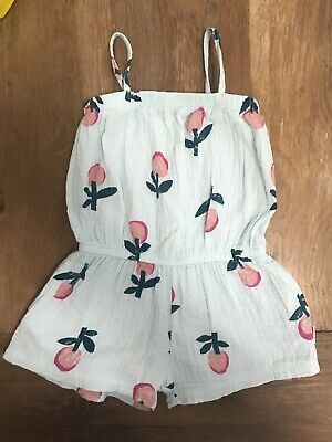Bonds Cheese Cloth Playsuit FLOWER STAMP SALTY Size 2