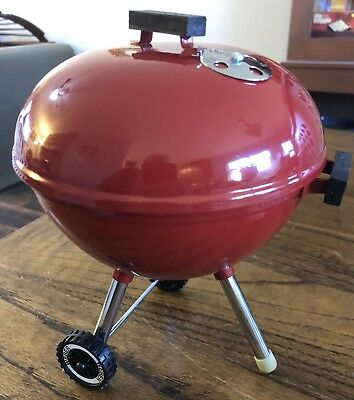 Weber Teleflora Red Original Kettle Grill Flowers Mini Toy Doll Size Promo Plant