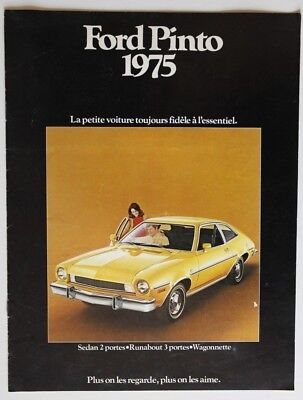 FORD PINTO 1975 dealer brochure catalog - French - Canada