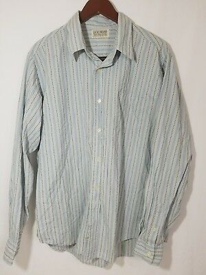 Lucky Brand Mens Shirt Button Front Single Needle Tailored  Sz XL ( ABC20)