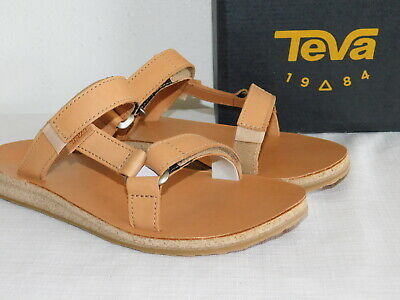 11fb3e9dd91 New Womens Size 9 Tan Teva Universal Slide Leather Sport Sandals Shoes  1011501