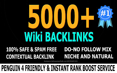 Create 5.000 backlinks for your URL and keywords ... excellent SEO + Full Report