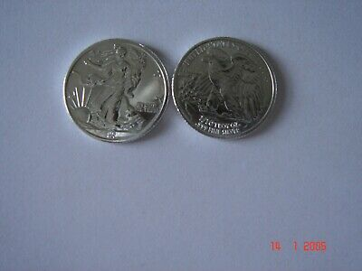 50- 1/10 oz SILVER PROOF QUALITY SHINY ROUNDS LIBERTY .999 TUBE ROLL FREE SHP