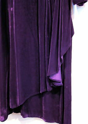 Antique Vintage Sz L 1920'S Silk Velvet Day-Into-Evening Dress, Hand Stitching