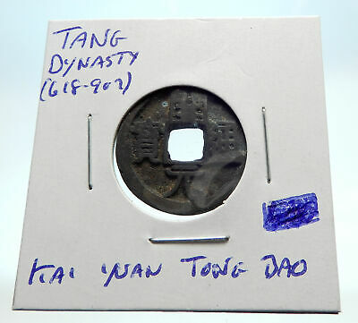 618-907AD CHINESE TANG Dynasty OLD Genuine Antique Cash Coin of CHINA i76257