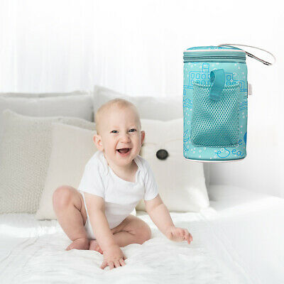 USB Infant Bottle Warmer Milk Thermostat Travel Cup Heater Insulated Bag UK Post