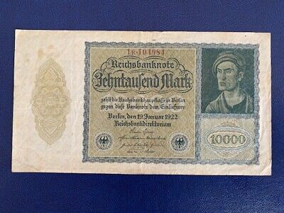 Germany - 10 000 Mark 1922 -  Very  Fine