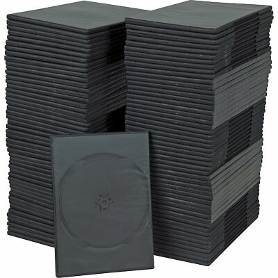 90 PREMIUM SLIM Black Single DVD Cases 7MM BRAND NEW!