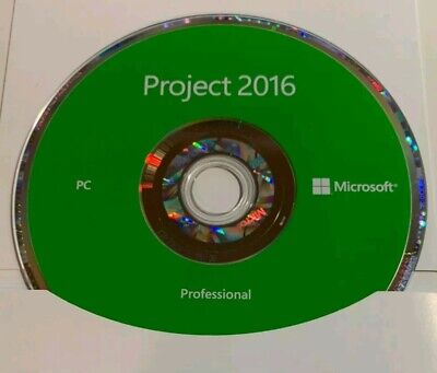 Microsoft Project Professional 2016 Product Key FPP and Media Disc New