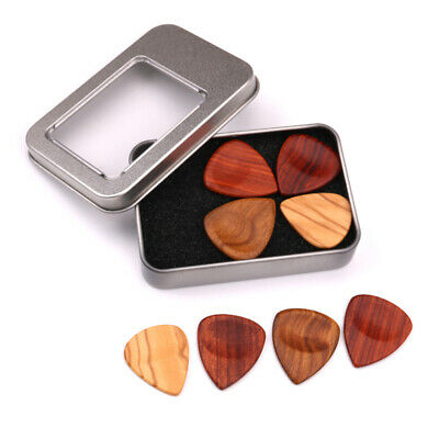 4X Acoustic Bulk Guitar Pick Picks Plectrum Celluloid Electric Smooth 2mm W/ Box