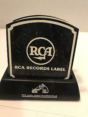 Vintage RCA & BNA Records Label Ceramic Coaster Set Music Industry Promo Ad