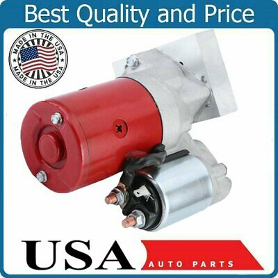 High Torque Mini Starter 3HP for SBC BBC Chevy Dual Inline 153 168 Tooth 305 350 396 454 Black Replacement Parts Starters