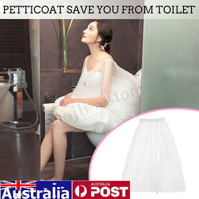 Bridal Petticoat Gather Skirt Slip Toilet Save Wedding Dress From Toliet Water