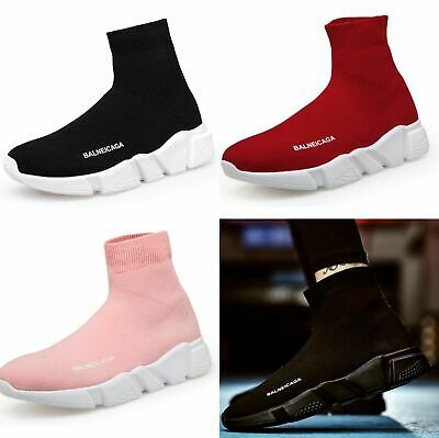 30aeedc1625d4 New Womens Designer Style Knit Speed Sock Runner Ladies Trainers Sneakers  Shoes