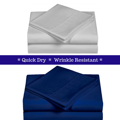 1000TC Microfiber Sheet Set - Wrinkle Resistant Quick Dry Deep Pockets