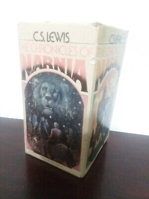 Vintage C.S Lewis The Chronicles of Narnia 7 Books Gift Box Set, 1970, 1st Ed.