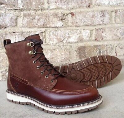 fc081ff43800 Timberland Men s Britton Hill Moc Toe Waterproof Boots A1523 Size 9.5