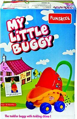 My Little Buggy Toy Pram Cart Doll Carriage Baby Stroller Ringing Chime Funskool