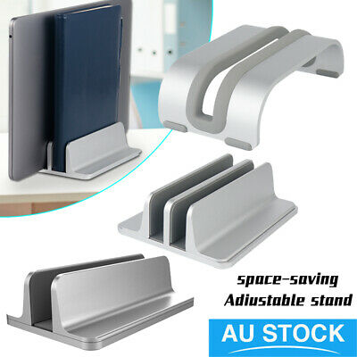 Aluminum Vertical Laptop Stand Adjustable Desktop Holder Stand For MacBook iPad