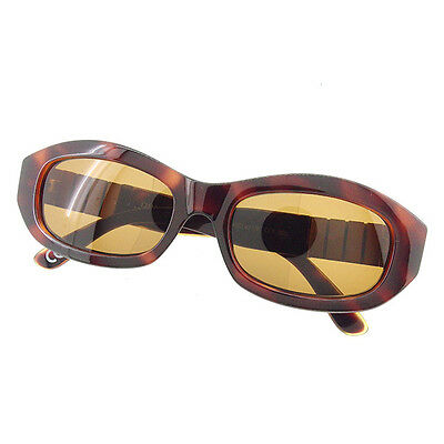 12248a73f533 Versace sunglasses Medusa Brown Gold Woman unisex Authentic Used A1411