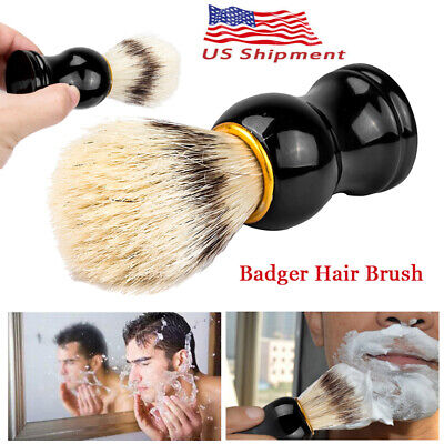 Men Shaving Bear Brush Best Badger Hair Shave ABC Handle Razor Barber Tool