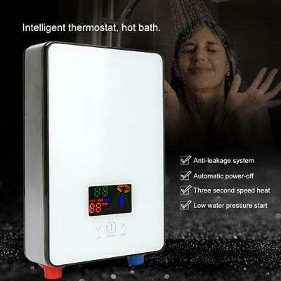 6500W Tankless Instant Electric Hot Water Heater Boiler Bathroom Shower Set BS