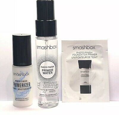 Smashbox Photo Finish Primerizer, Primer Water & Foundation Primer TRAVEL SET