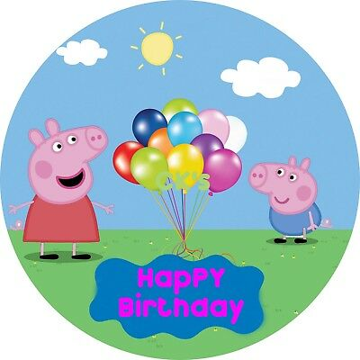 Peppa Pig  7 INCH EDIBLE IMAGE CAKE & CUPCAKE TOPPERS
