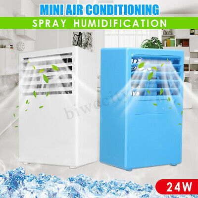 Portable 24V 3 Speed Mini Air Conditioner Cool Cooling For Bedroom 5 Leaf Fan