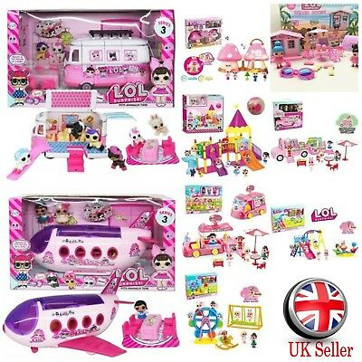 LOL Surprise Doll Airship Plane Bus Car Playset Topper Toys Kids Girls Xmas Gift