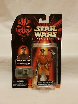 Star Wars Episode 1 Naboo Royal Security Commtech Action Figure Hasbro 1999 Moc