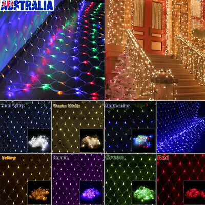 LED String Fairy Light Net Christmas Wedding Party Outdoor Window Curtain Garden