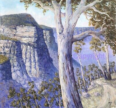 Canvas Limited Edition Print - Insp. By Blue Mountains - Artist Bill Offord