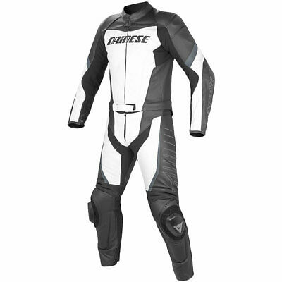Dainese T.Racing 2 Piece leather Suit White/Black