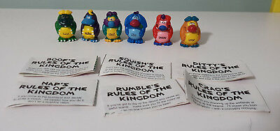 YOWIES SERIES 1 * YOWIE MEN * FULL SET of 6 LIMITED EDITIONS PLUS PAPERS!