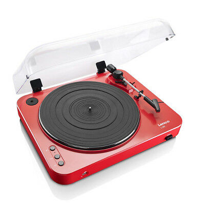 Lenco L-85 Record player with registration live a USB Red