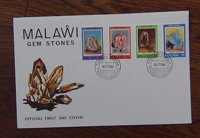 Malawi 1980 Gem Stones set on First Day Cover