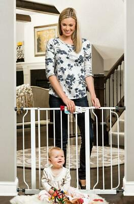 Regalo Easy Step 38.5-Inch Extra Wide Baby Gate, Bonus Kit, Includes 6-Inch...